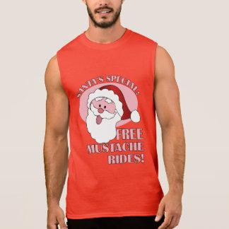 サンタの髭はワイシャツ及びジャケットに乗ります 袖なしシャツ