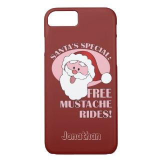 サンタの髭は名前をカスタムするの電話箱に乗ります iPhone 8/7ケース