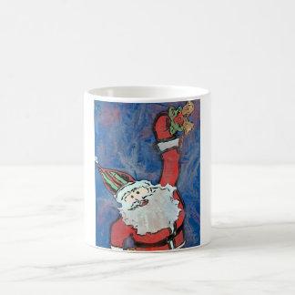 サンタの鳴るクリスマス鐘のコーヒー・マグ コーヒーマグカップ