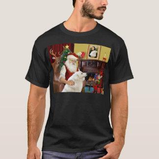 サンタのKuvasz Tシャツ