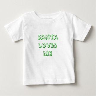サンタのlovesme ベビーTシャツ