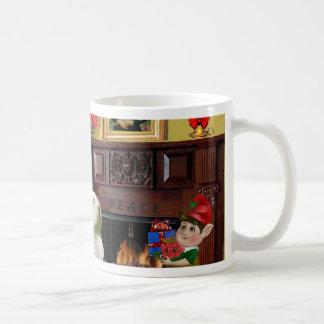 サンタのSealyhamテリア コーヒーマグカップ