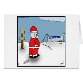 サンタはウォールマートの北極の位置によって怒っています カード