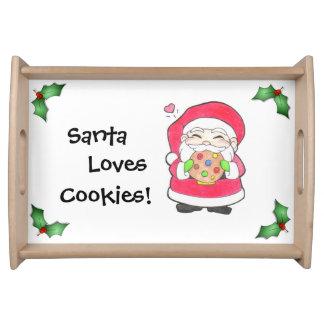 サンタはクッキー-トレイ--を愛します トレー