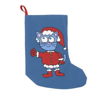 サンタはクリスマスのストッキングを引き裂きます スモールクリスマスストッキング