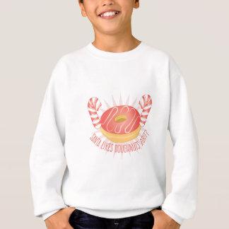 サンタはドーナツを好みます スウェットシャツ