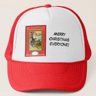 サンタは彼の家を飾りますも! キャップ