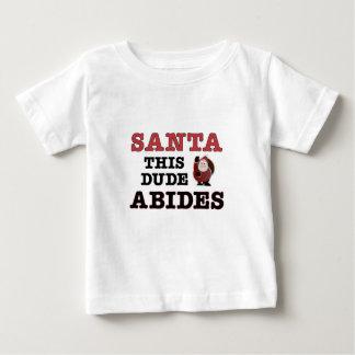 サンタは従います(希望ずっとよいです) ベビーTシャツ