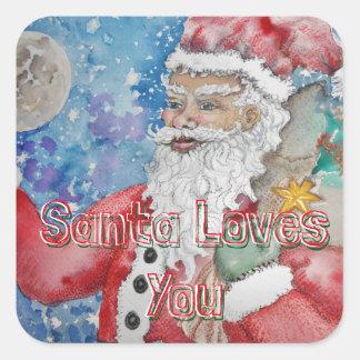 サンタは愛します スクエアシール