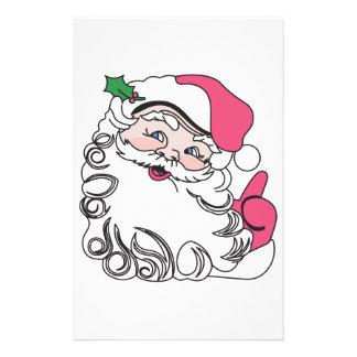 サンタは直面します 便箋