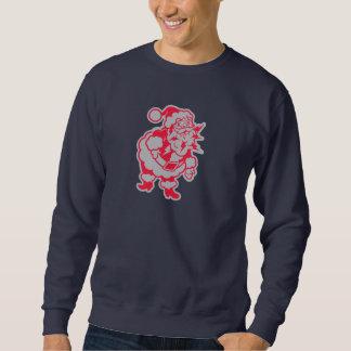 サンタは稲妻のような町に来ています スウェットシャツ