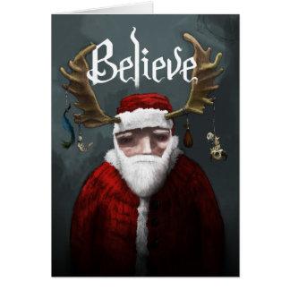 """サンタは""""信じます"""" カード"""