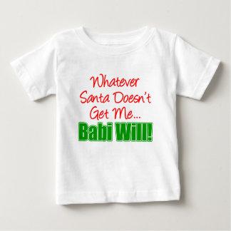 サンタはBabi ベビーTシャツ