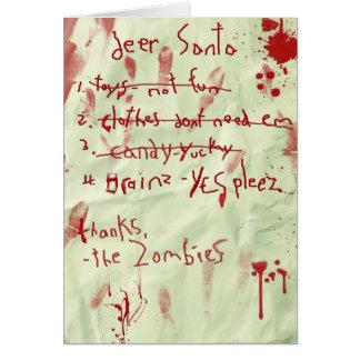 サンタへのゾンビの手紙 カード