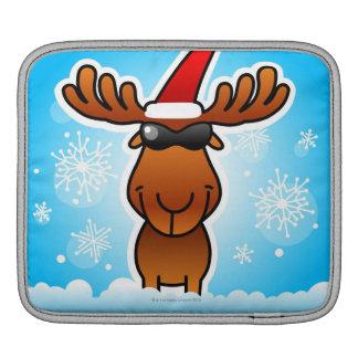 サンタを遊んでいるトナカイ iPadスリーブ