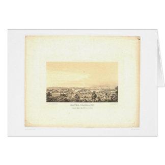 サンタクララのCA.のパノラマ式の地図1856年(1585A) カード