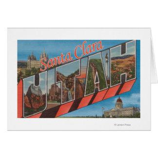 サンタクララ、ユタ-大きい手紙場面 カード