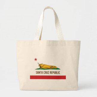 サンタクルス共和国のバナナのスラグ旗 ラージトートバッグ