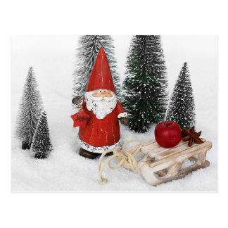 サンタクロースおよびそりの郵便はがき ポストカード