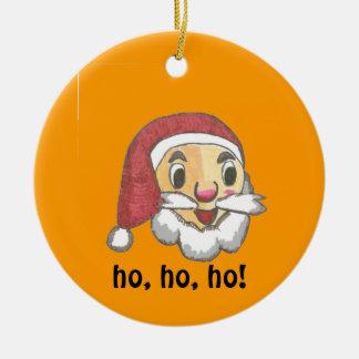 サンタクロースおよびクリスマス鐘のオーナメント セラミックオーナメント