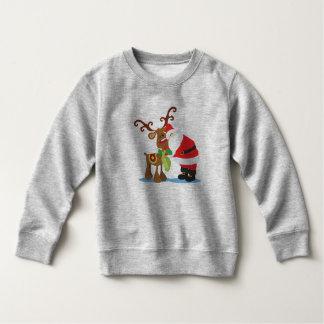 サンタクロースおよびトナカイ美しい のスエットシャツ スウェットシャツ