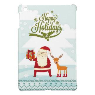 サンタクロースおよびルドルフとの幸せな休日 iPad MINIケース