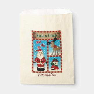 サンタクロースおよび友人|のクリスマス フェイバーバッグ