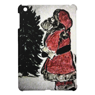 サンタクロースおよび木 iPad MINI カバー