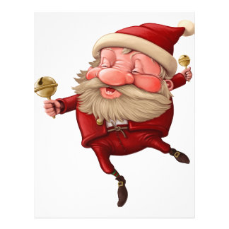 サンタクロースおよび鐘の踊り レターヘッド