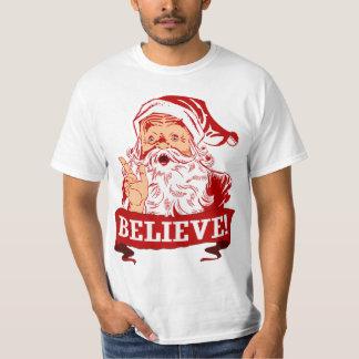 サンタクロースで信じて下さい Tシャツ