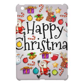 サンタクロースとのカラフルのクリスマスのテンプレート iPad MINI CASE