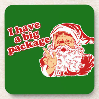サンタクロースに大きいパッケージがあります コースター