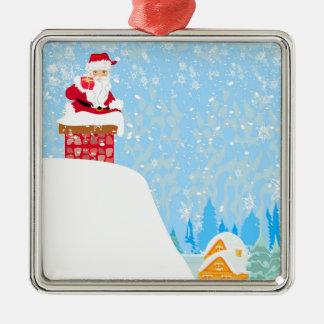 サンタクロースのおもしろいな装飾 メタルオーナメント
