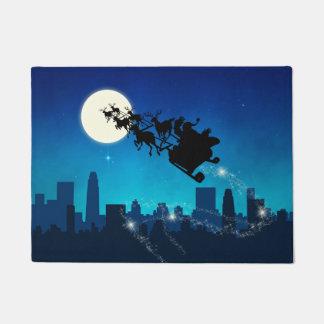 サンタクロースのそりのクリスマス-玄関マット ドアマット