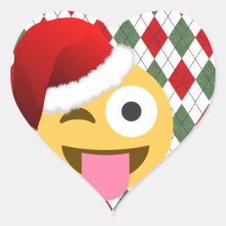 サンタクロースのまばたきのemoji ハートシール