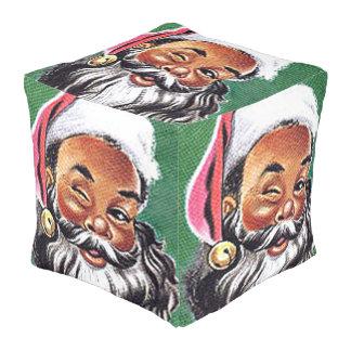 サンタクロースのアフリカ系アメリカ人の黒いクリスマス プーフ