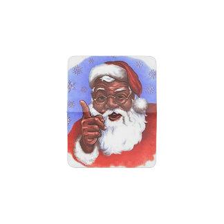 サンタクロースのアフリカ系アメリカ人の黒いクリスマス 名刺入れ