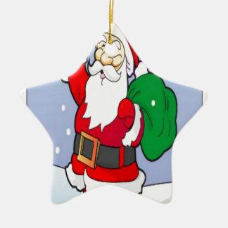 サンタクロースのクリスマスのデザイン セラミックオーナメント