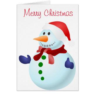 サンタクロースのクリスマスの挨拶状 グリーティングカード