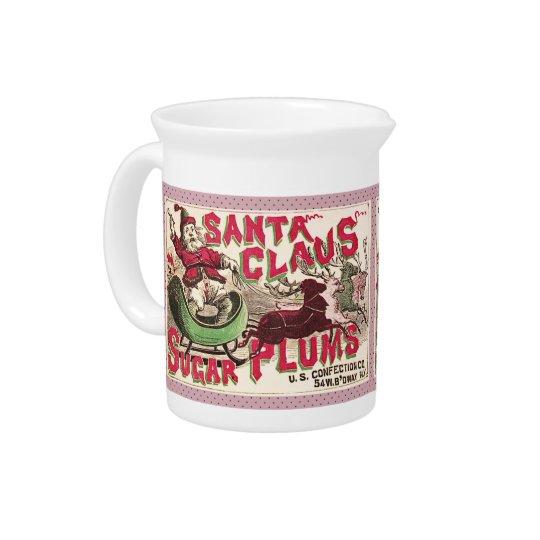 サンタクロースのクリスマスの砂糖のプラムキャンデー ピッチャー