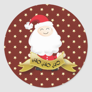 サンタクロースのクリスマスのHo H0 Hoステッカー ラウンドシール