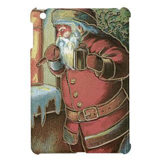 サンタクロースのクリスマスツリーのオーナメントの窓 iPad MINI カバー