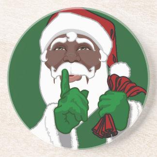 サンタクロースのコースターの黒いサンタのクリスマス コースター