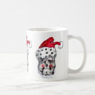 サンタクロースのスカルのマグ コーヒーマグカップ