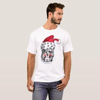サンタクロースのスカルのTシャツ Tシャツ
