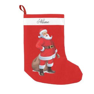 サンタクロースのストッキング スモールクリスマスストッキング