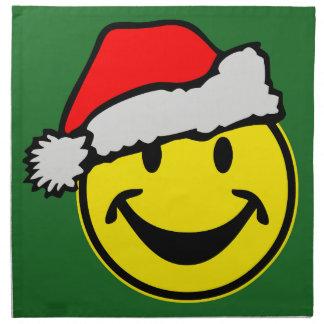 サンタクロースのスマイリー + あなたのbackgr。 及びアイディア ナプキンクロス