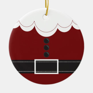 サンタクロースのスーツのクリスマスの休日のデザイン セラミックオーナメント
