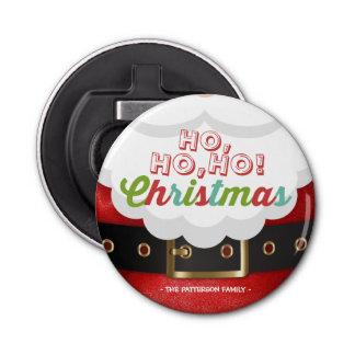 サンタクロースのスーツのHo Ho Hoクリスマスの明けましておめでとう 栓抜き