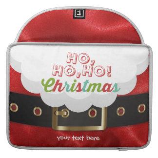 サンタクロースのスーツのHo Ho Hoクリスマスの明けましておめでとう MacBook Proスリーブ